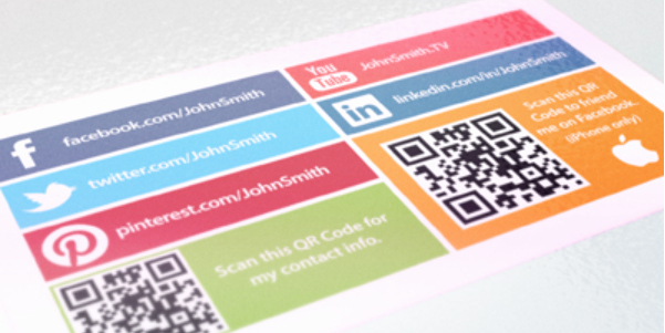 Social Media Business Cards Template Awesome social Media Cards