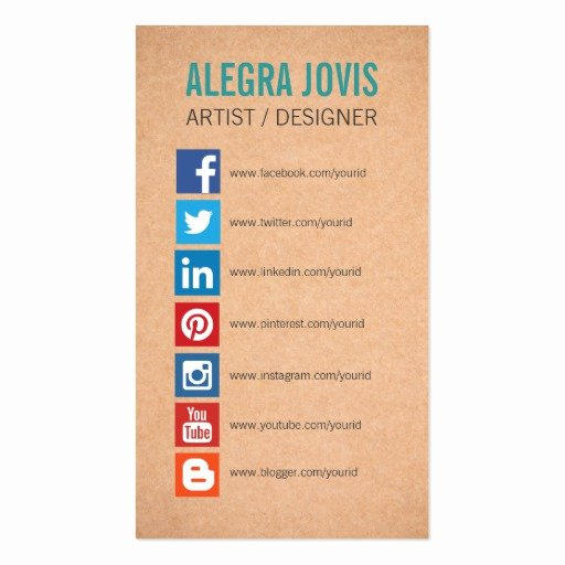 Social Media Business Cards Template Beautiful Instagram Business Card Templates