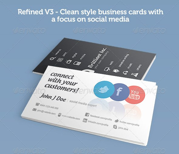 Social Media Business Cards Template Elegant 56 Visually Stunning Psd Business Card Templates