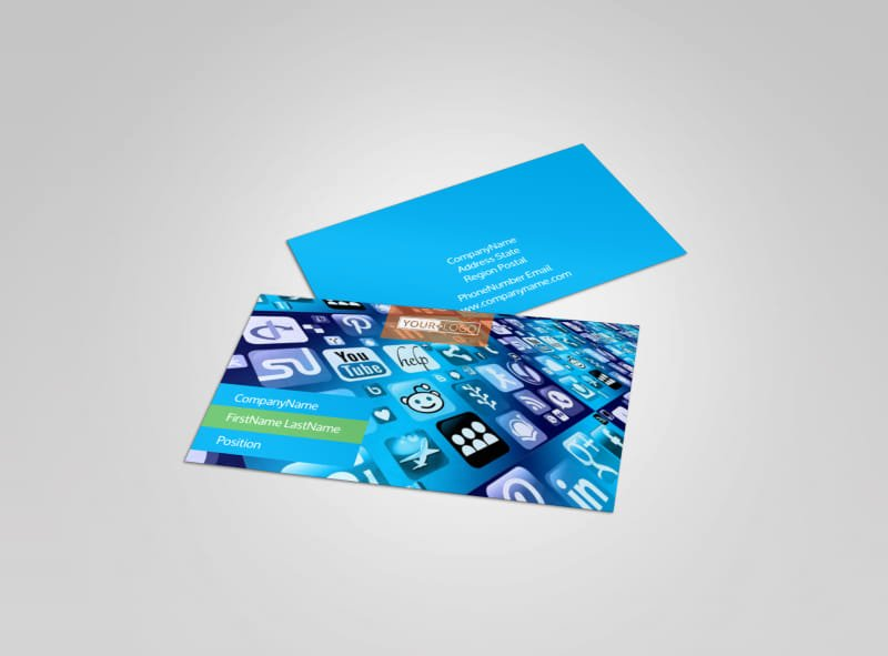 Social Media Business Cards Template Elegant social Media Marketing Consultants Business Card Template