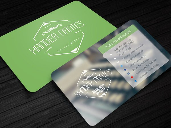 Social Media Business Cards Template Fresh 13 social Media Business Card Templates Psd Word Ai