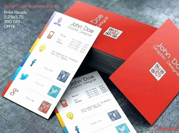 Social Media Business Cards Template Fresh Business Cards Free Card Template with social Media Icons