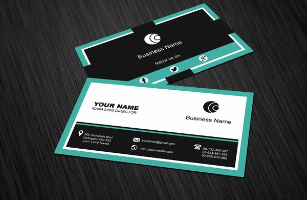 Social Media Business Cards Template Inspirational Free social Media Business Card Template Download