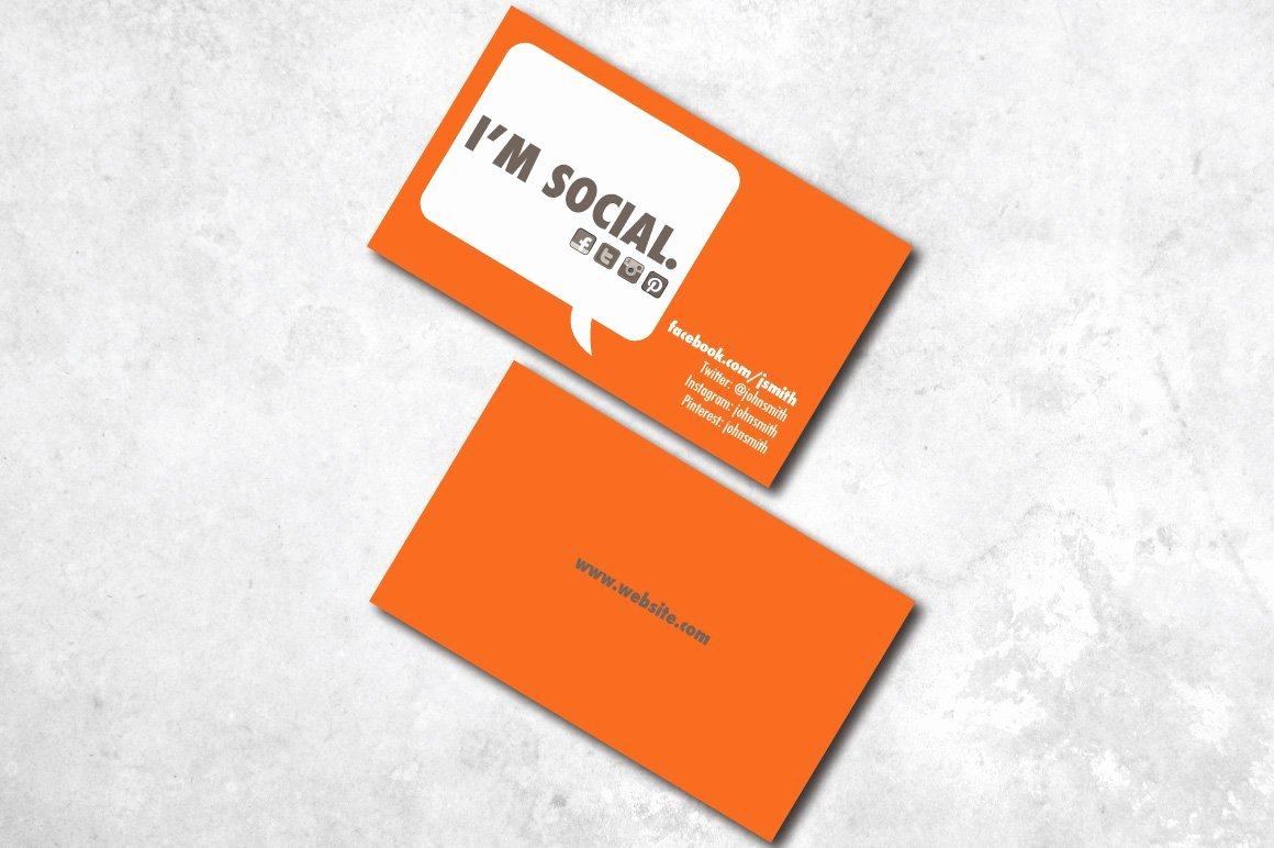 Social Media Business Cards Template Inspirational I M social Business Card Business Card Templates