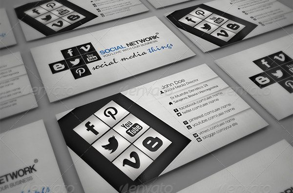 Social Media Business Cards Template Lovely 13 social Media Business Card Templates Psd Word Ai