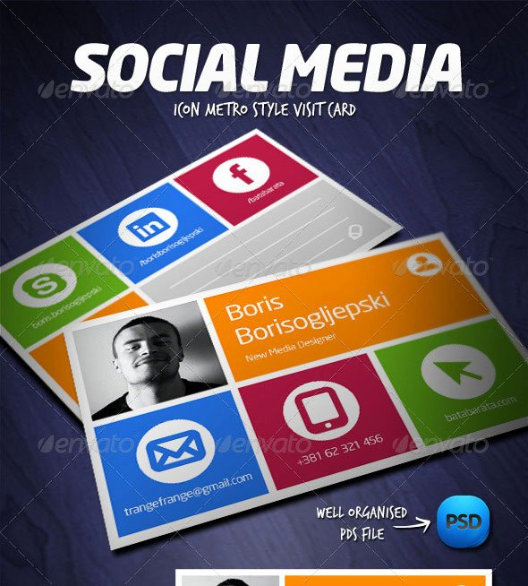Social Media Business Cards Template Lovely 56 Visually Stunning Psd Business Card Templates