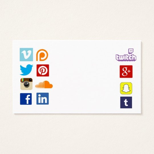 Social Media Business Cards Template Luxury Business Card Template with social Media Icons 3