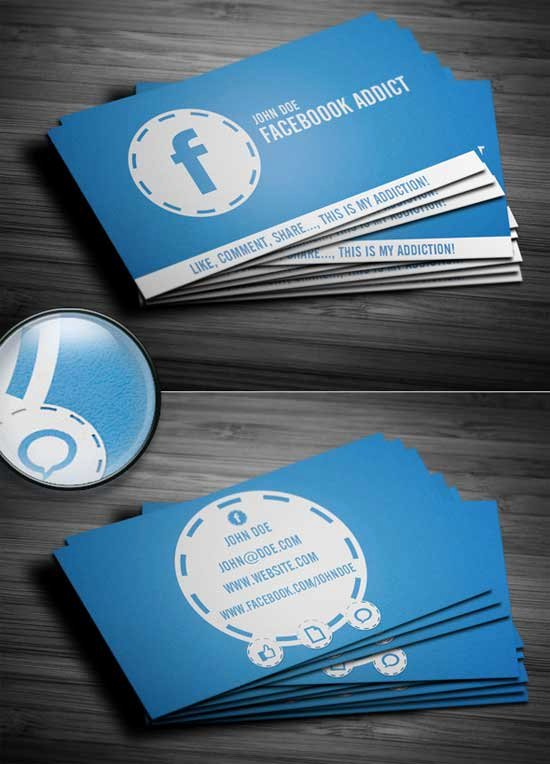 Social Media Business Cards Template Luxury social Media Business Cards 20 Creative Examples