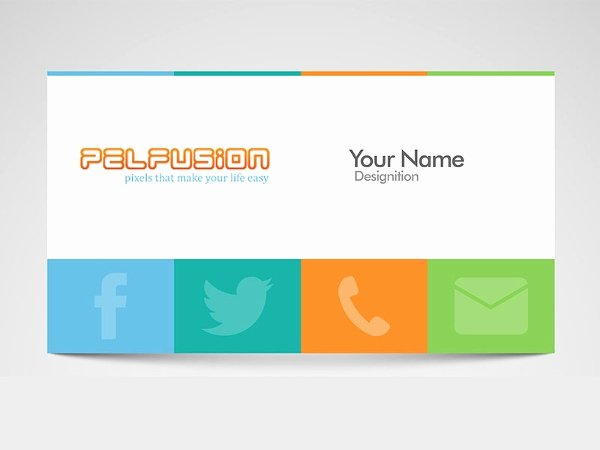Social Media Business Cards Template New 13 social Media Business Card Templates Psd Word Ai