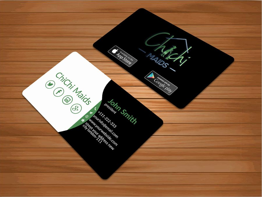 Social Media Business Cards Template New Business Card Template with social Media Icons Beautiful