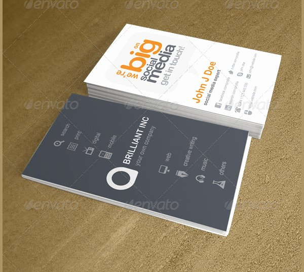 Social Media Business Cards Template Unique 39 social Media Business Card Templates Free & Premium