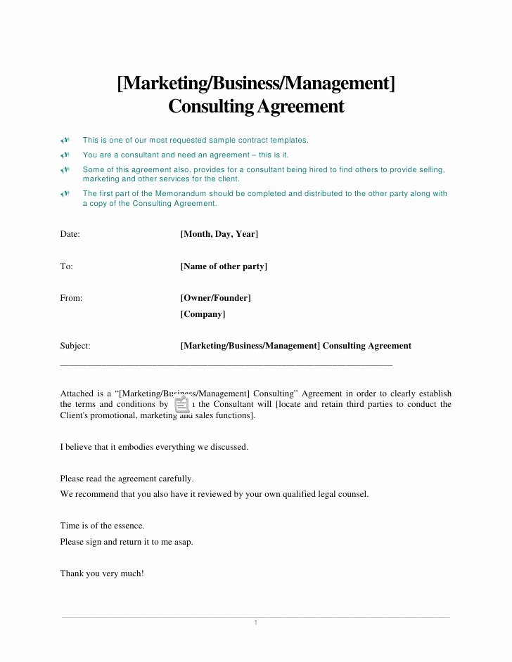 Social Media Marketing Contract Template Awesome [marketing Business Management] Consulting Agreement