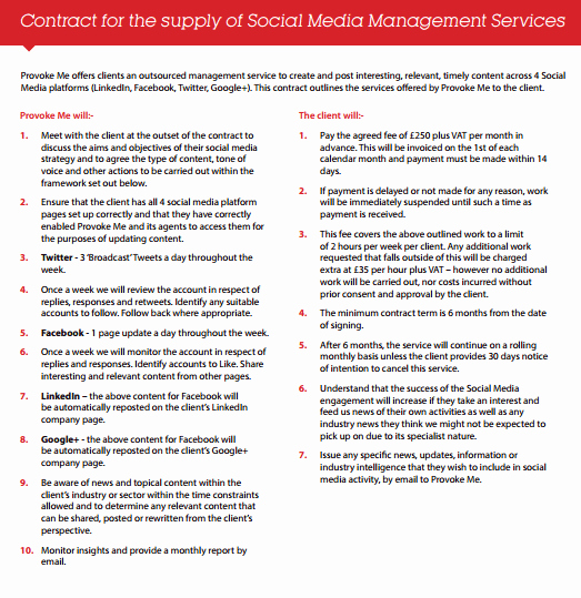 Social Media Marketing Contract Template Elegant social Media Contract Templates Find Word Templates
