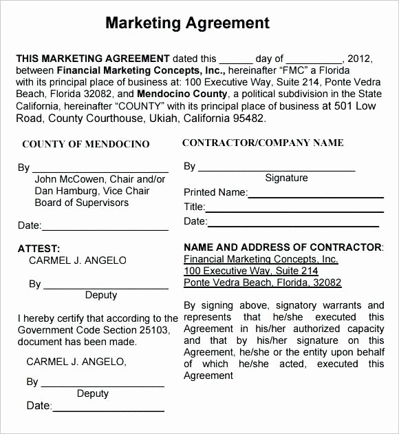 Social Media Marketing Contract Template Fresh Influencer Marketing Contract Template 4 Templates for Ppt
