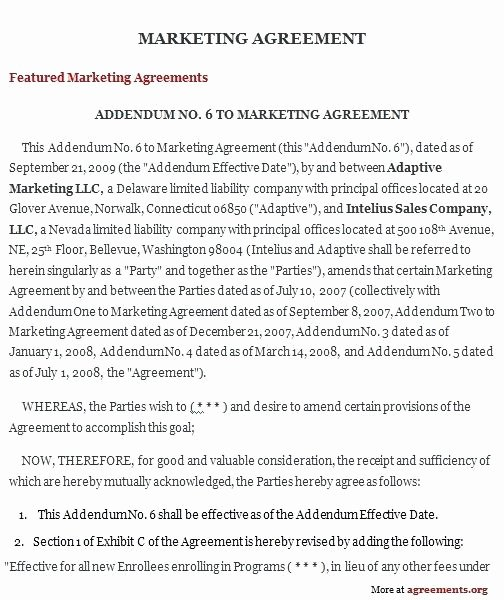 Social Media Marketing Contract Template New social Media Agreement Template Sample Marketing