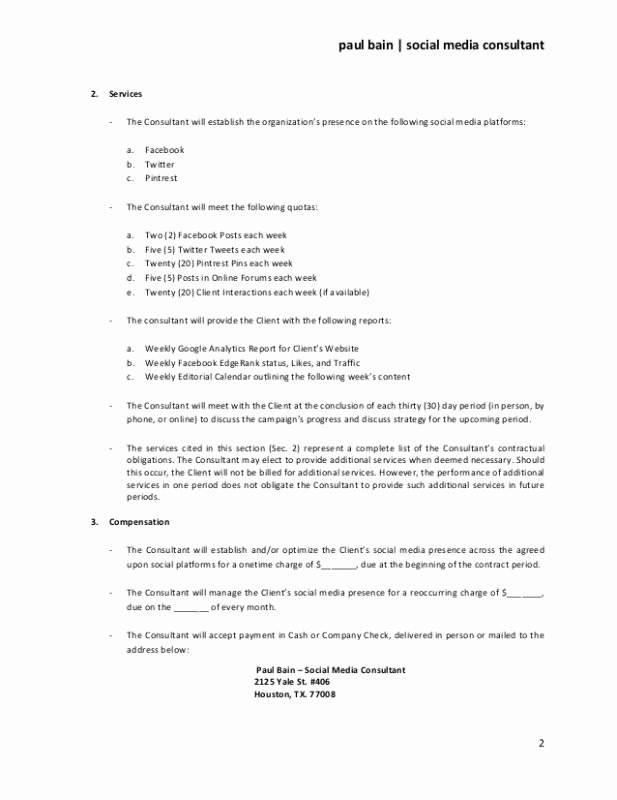 Social Media Marketing Contract Template Unique Sample Termination Letter without Cause