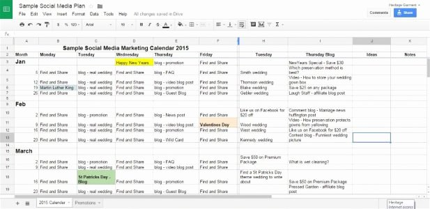Social Media Plan Template Excel Best Of 18 social Media Marketing Plan Template that Will Make