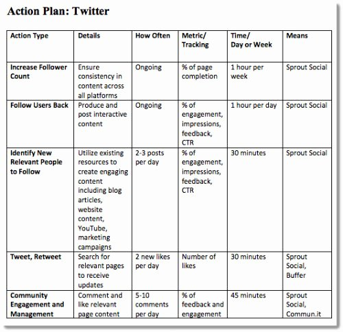 Social Media Plan Template Excel Best Of 4 Step Plan to A Successful Small Business Blog