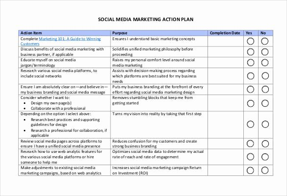 Social Media Plan Template Excel Best Of 85 Action Plan Templates Word Excel Pdf