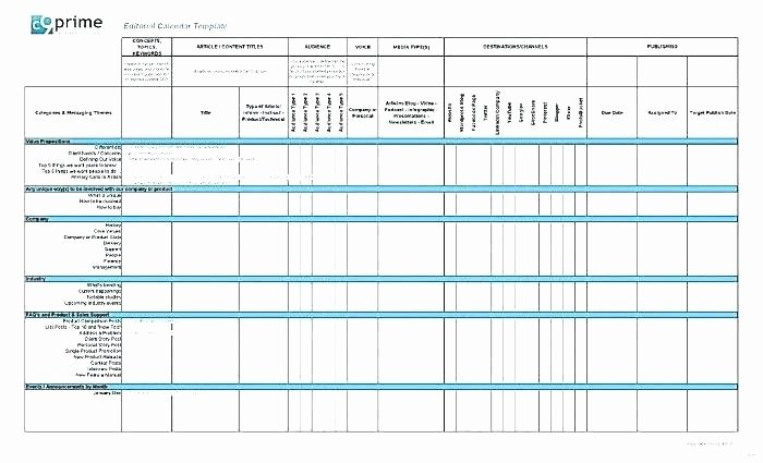 Social Media Plan Template Excel Fresh social Media Planning Calendar Template social Media