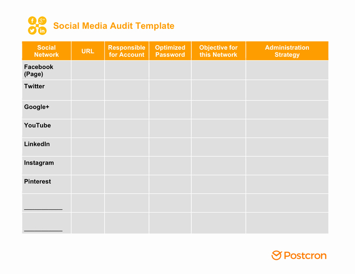 Social Media Plan Template Excel Fresh social Media Strategy Template Free Documents