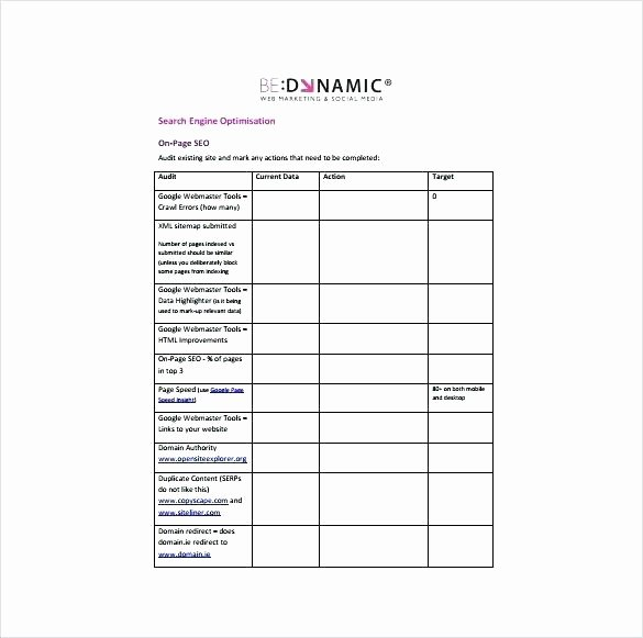 Social Media Plan Template Excel New Sample social Media Marketing Strategy Template Plan Pdf