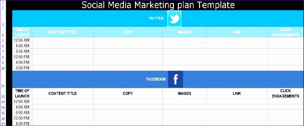 Social Media Plan Template Excel Unique 8 social Media Plan Template Excel Exceltemplates