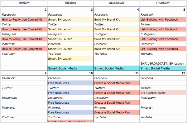 Social Media Post Schedule Template Beautiful How to Create A social Media Calendar A Template for