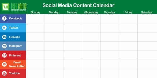 Social Media Post Schedule Template Best Of Building Your Content Calendar – sojcssm