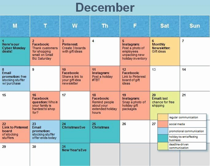 Social Media Post Schedule Template Fresh How to Create A Holiday social Media Calendar