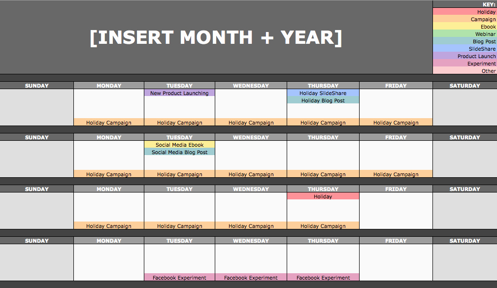 Social Media Post Schedule Template Fresh the social Media Content Calendar Template Every Marketer