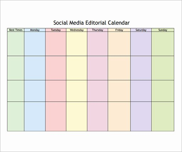 Social Media Post Schedule Template Inspirational 8 Sample social Media Calendar Templates to Download