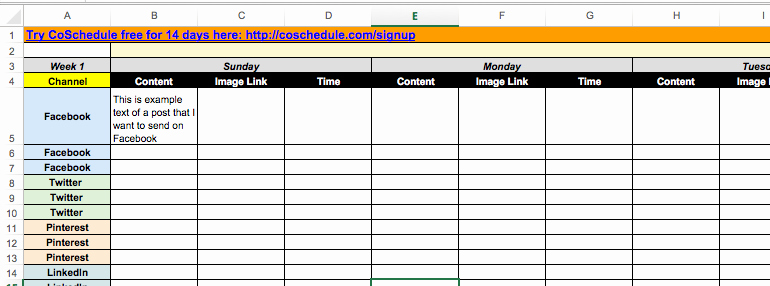 Social Media Post Schedule Template Luxury 2018 social Media Content Calendar How to Easily Plan