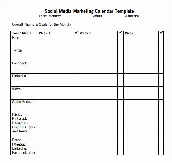 Social Media Post Schedule Template Luxury 9 social Media Calendar Templates – Samples Examples