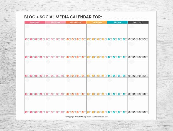 Social Media Posting Schedule Template Awesome 7 social Media Schedule Templates Free Sample Example