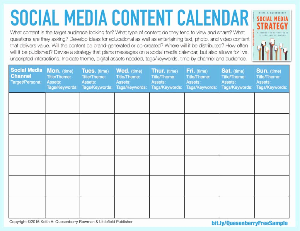 Social Media Posting Schedule Template Awesome social Media Templates