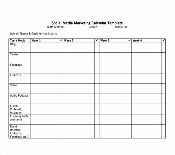 Social Media Posting Schedule Template Fresh 8 Sample social Media Calendar Templates to Download