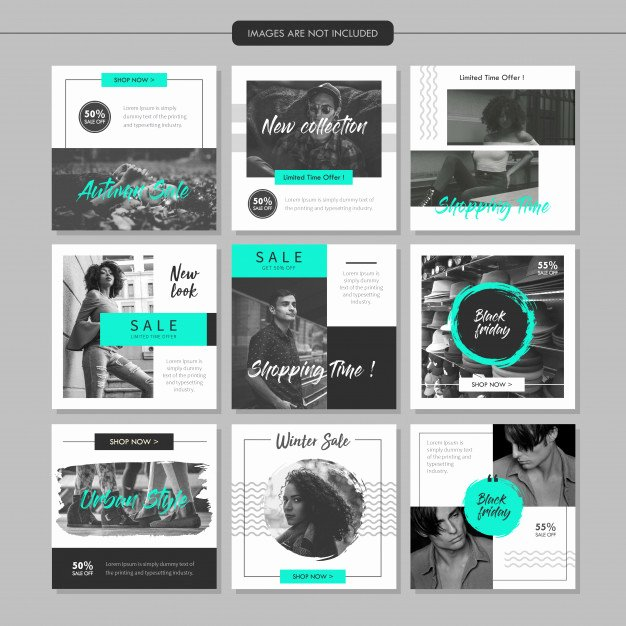 Social Media Posting Template Awesome Greyscale Fashion social Media Post Template Vector