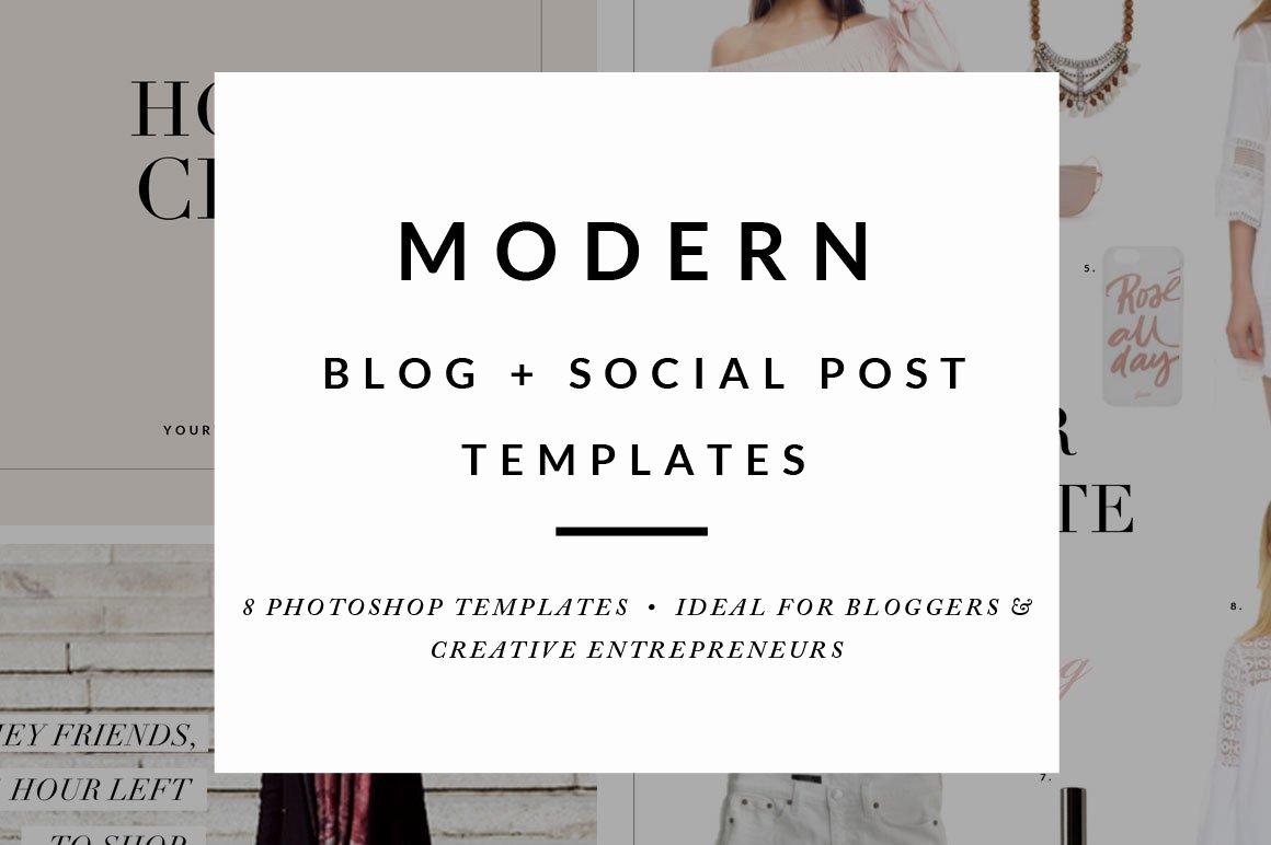 Social Media Posting Template Beautiful Blog Post social Media Templates Web Elements