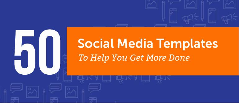 Social Media Posting Template Elegant 50 Free social Media Marketing Templates to Get More Done