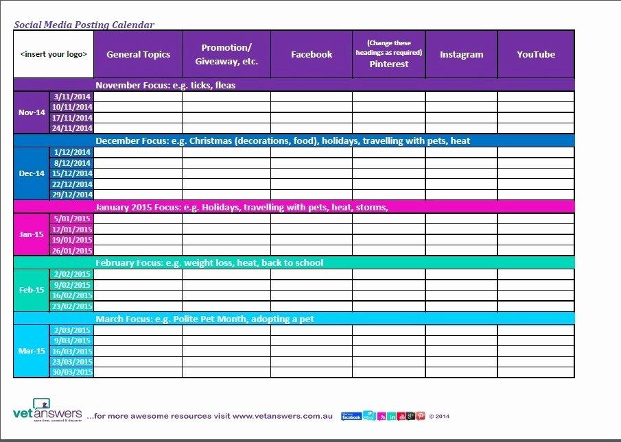 "Social Media Posting Template Elegant Search Results for ""social Media Calendar Template Excel"