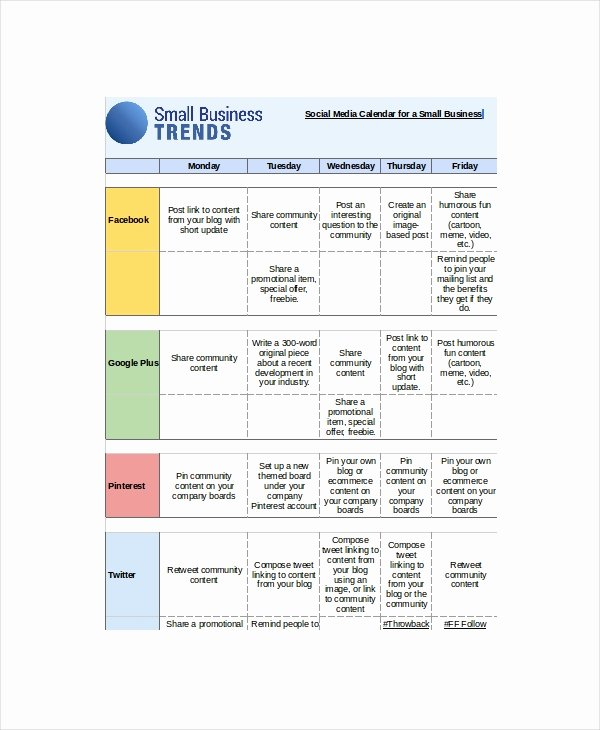 Social Media Posting Template Fresh 2015 Calendar Excel Template by Weekml