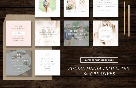Social Media Posting Template Luxury social Media Templates Instagram Web Elements On