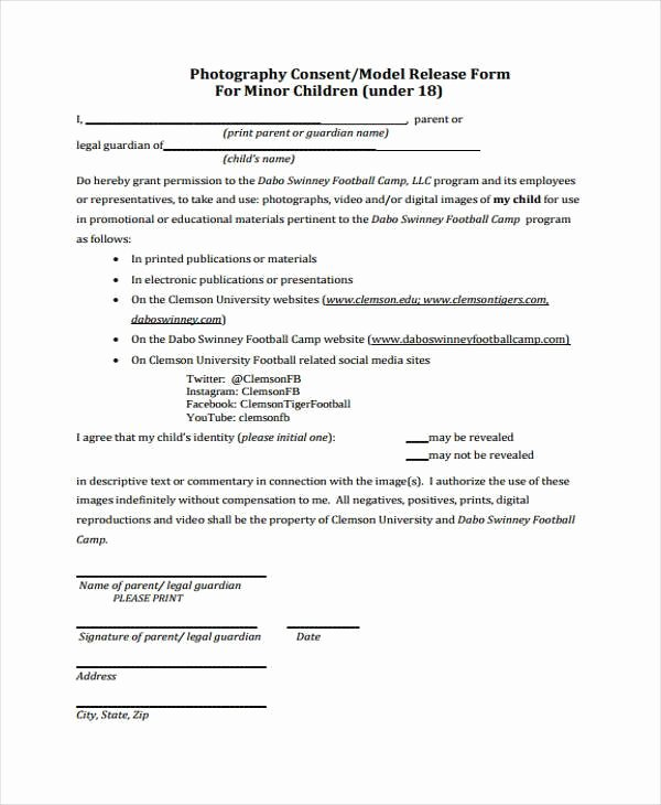 Social Media Release form Template Best Of Release form Templates