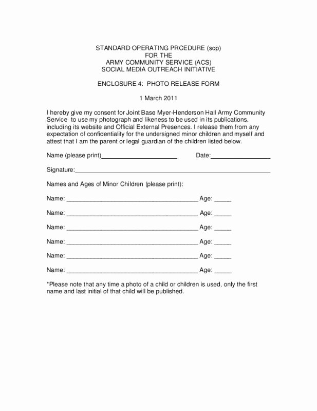 Social Media Release form Template Best Of social Media Release form