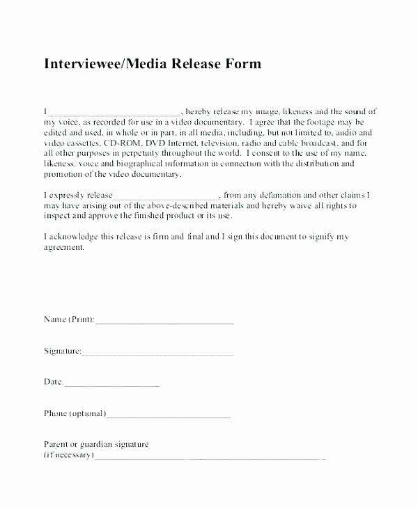 Social Media Release form Template Fresh Media Consent form Template Consent form Sample 9
