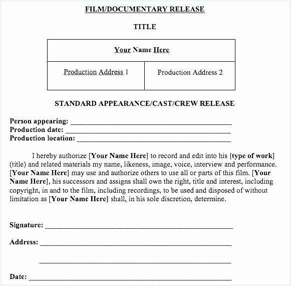 Social Media Release form Template Fresh Media Consent Release form In Template Grapher