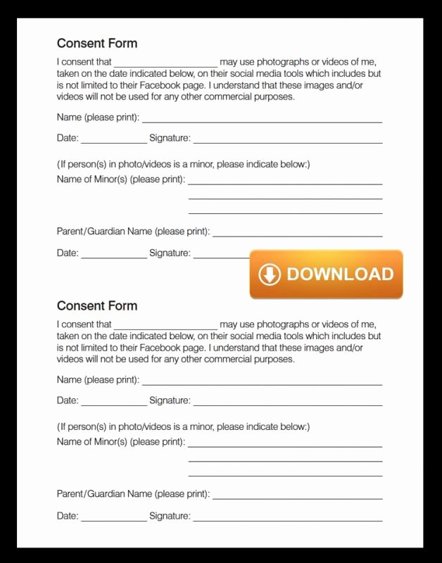 Social Media Release form Template Inspirational social Media Release form