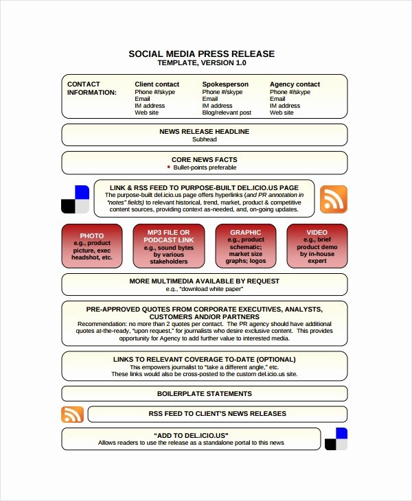 Social Media Release form Template Lovely 19 Press Release Templates Free Sample Example format