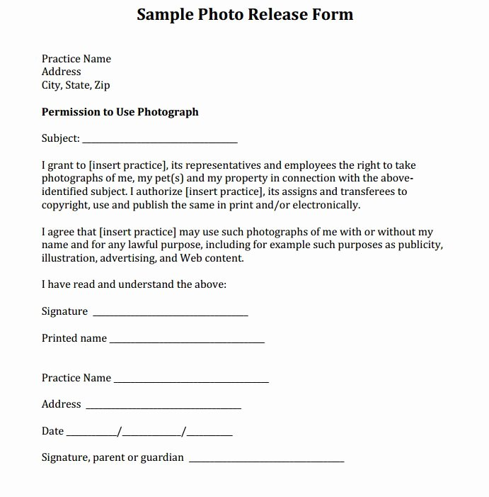 Social Media Release form Template Luxury Sample Release form Courtesy Of Dr Eric Garcia and